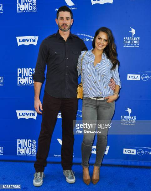 Dodgers baseball player Brandon McCarthy and Amanda McCarthy attend the 5th Annual Ping Pong 4 Purpose on July 27 2017 in Los Angeles California