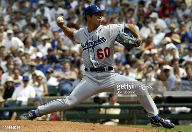Dodgers' Masao Kida in the first at Wrigley Field