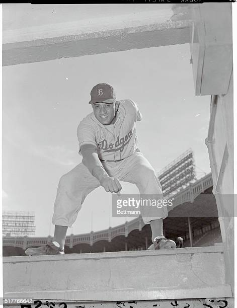 Dodgers' Opening Power at the Stadium New York New York The Brooklyn Dodgers took to the field today but only for practice as they invaded the Yankee...