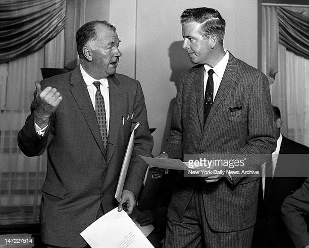 Dodgers publicist ArthurRed Patterson gestured in westerly direction as he made news of the move to the Coast official in the presence of newsmen at...