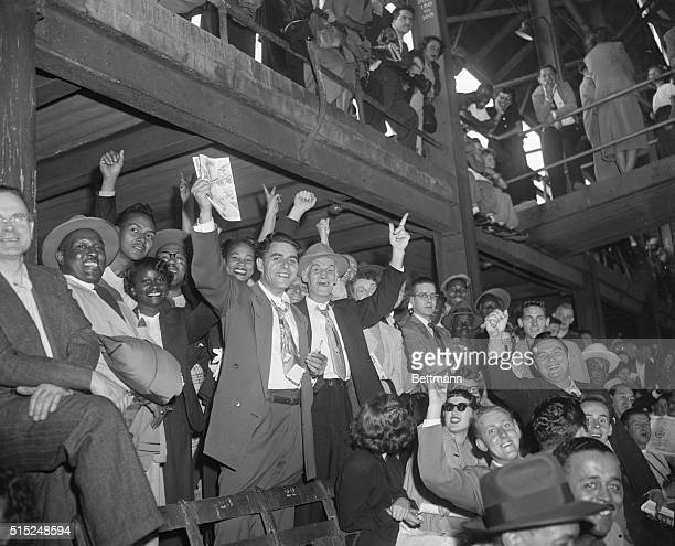 Dodgers vs Phillies Ebbets Field Brooklyn New York Standing room only but still happy October 1 1950