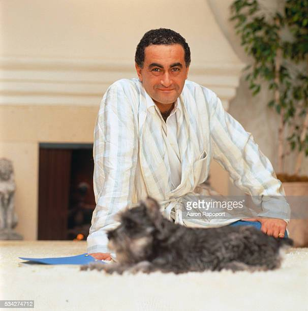 Dodi al Fayed with His Dog