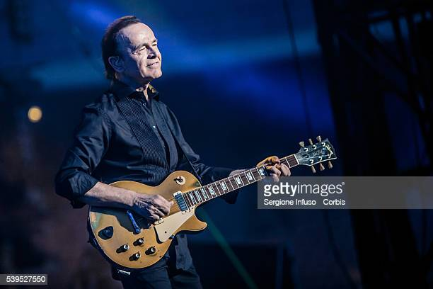Dodi Battaglia of Italian pop band Pooh performs a sold out show at San Siro Stadium on June 10 2016 in Milan Italy
