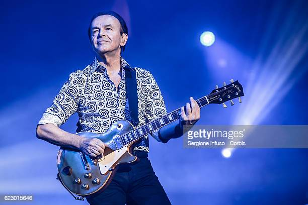 Dodi Battaglia of Italian pop band Pooh performs on stage on November 11, 2016 in Milan, Italy.