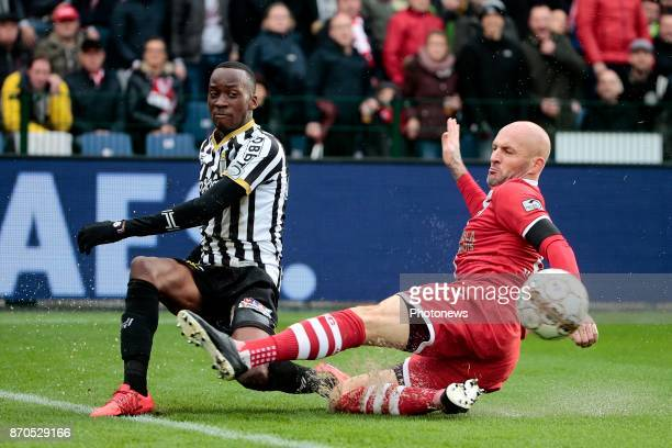 Dodi Lukebakio midfielder of Sporting Charleroi and Jelle Van Damme defender of Antwerp FC pictured during the Jupiler Pro League match between Royal...
