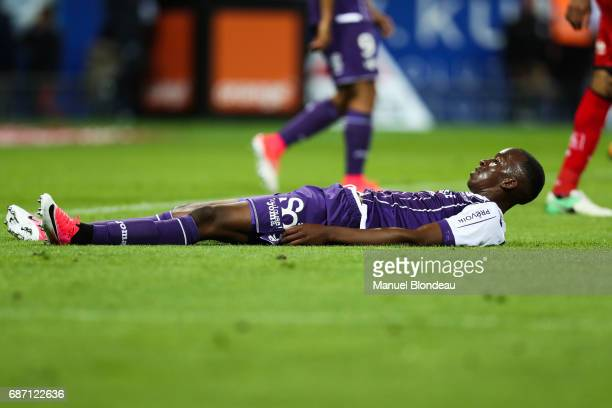 Dodi Lukebakio Ngandoli of Toulouse during the Ligue 1 match between Toulouse FC and Dijon FCO at Stadium Municipal on May 20 2017 in Toulouse France