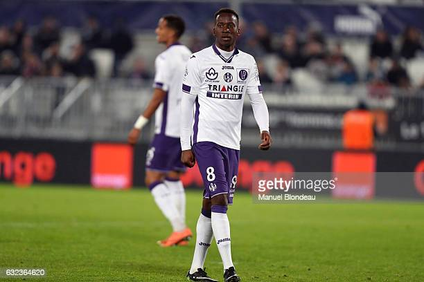 Dodi Lukebakio of Toulouse during the French Ligue 1 match between Bordeaux and Toulouse at Nouveau Stade de Bordeaux on January 21 2017 in Bordeaux...