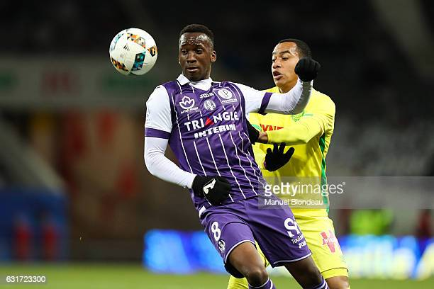 Dodi Lukebakio of Toulouse during the Ligue 1 match between Toulouse FC and FC Nantes at Stadium Municipal on January 14 2017 in Toulouse France
