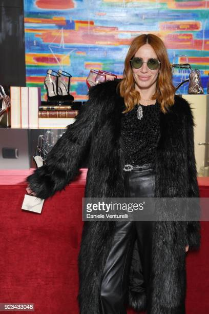 Dodo Bar Or is seen at the Alevi' presentation during Milan Fashion Week Fall/Winter 2018/19 on February 23 2018 in Milan Italy