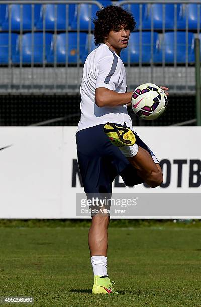Dodo during the FC Internazionale Training Session at Appiano Gentile on September 11 2014 in Como Italy