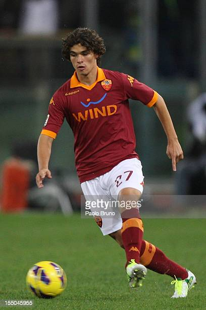 Dodo' of AS Roma in action during the Serie A match between AS Roma and Udinese Calcio at Stadio Olimpico on October 28 2012 in Rome Italy