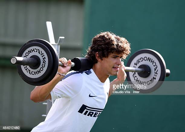 Dodo of FC Internazionale during training session at Appiano Gentile on August 23 2014 in Como Italy