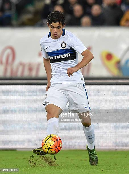Dodo' of FC Internazionale in action during a tornemnt between FC Internazionale AC Milan and AS Bari at Stadio San Nicola on November 24 2015 in...
