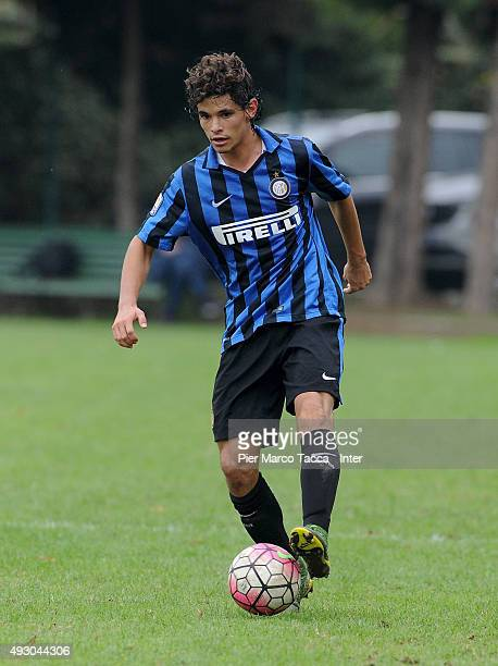 Dodo of FC Internazionale in action during the juvenile match between FC Internazionale and AC Cesena at Stadio Breda on October 17 2015 in Sesto San...