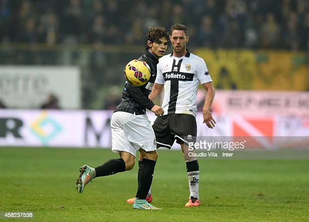 Dodo of FC Internazionale in action during the Serie A match between Parma FC and FC Internazionale Milano at Stadio Ennio Tardini on November 1 2014...