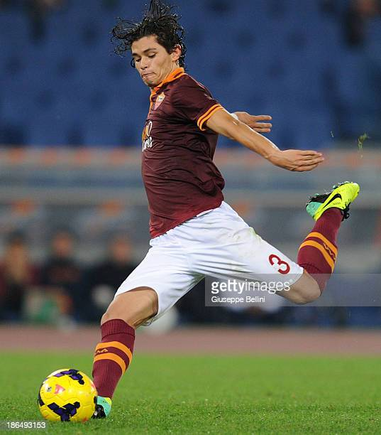 Dodo' of Roma in action during the Serie A match between AS Roma and AC Chievo Verona at Stadio Olimpico on October 31 2013 in Rome Italy