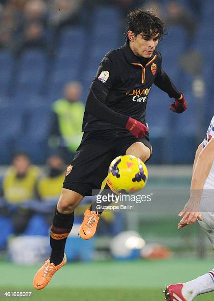 Dodo' of Roma in action during the TIM Cup match between AS Roma and UC Sampdoria at Olimpico Stadium on January 9 2014 in Rome Italy