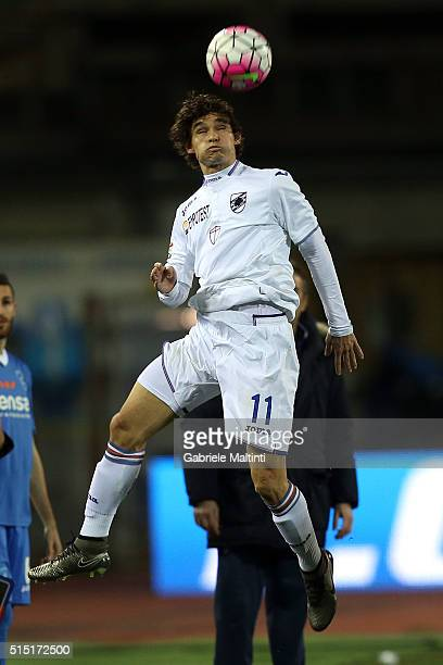 Dodo' of UC Sampdoria in action during the Serie A match between Empoli FC and UC Sampdoria at Stadio Carlo Castellani on March 12 2016 in Empoli...