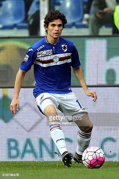 Dodo' of UC Sampdoria in action during the Serie A match between UC Sampdoria and AC Chievo Verona at Stadio Luigi Ferraris on March 20 2016 in Genoa...