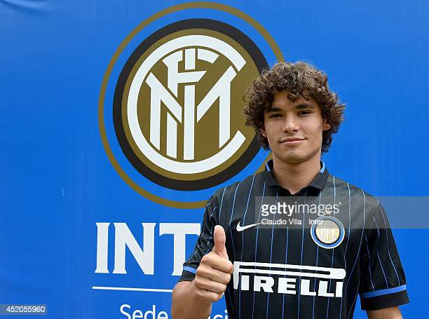 Dodo poses for a portrait after FC Internazionale Milano training session on July 12 2014 in Pinzolo near Trento Italy