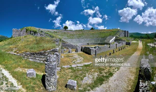 dodoni's ancient theatre - epirus greece stock pictures, royalty-free photos & images