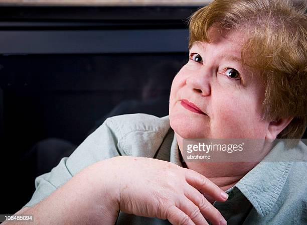 doe eyes - fat woman funny stock photos and pictures