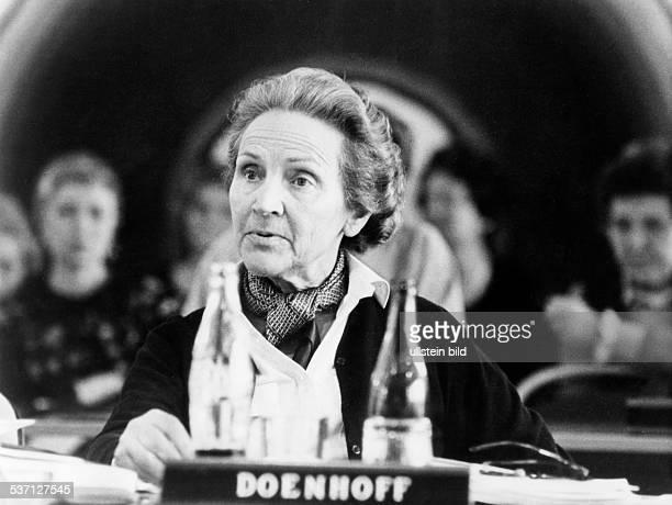 Doenhoff, Marion Graefin , Journalistin, Publizistin, D, Herausgeberin der Wochenzeitung 'Die Zeit', - Portrait, - 1979