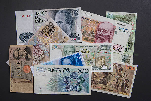 Europes Future Old European Currencies Symbol Photo Pictures
