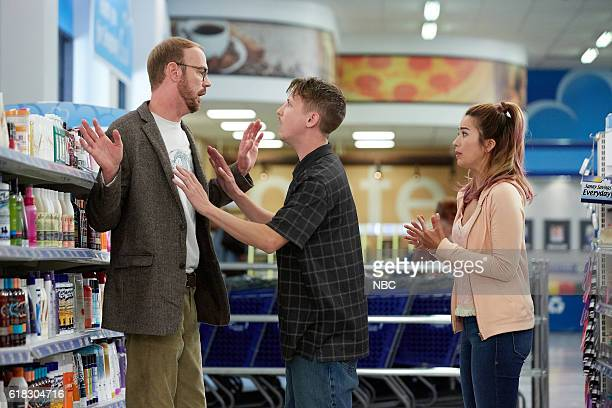 SUPERSTORE 'Dog Adoption Day' Episode 206 Pictured Kevin Kirkpatrick as Cole Johnny Pemberton as Bo Nichole Bloom as Cheyenne
