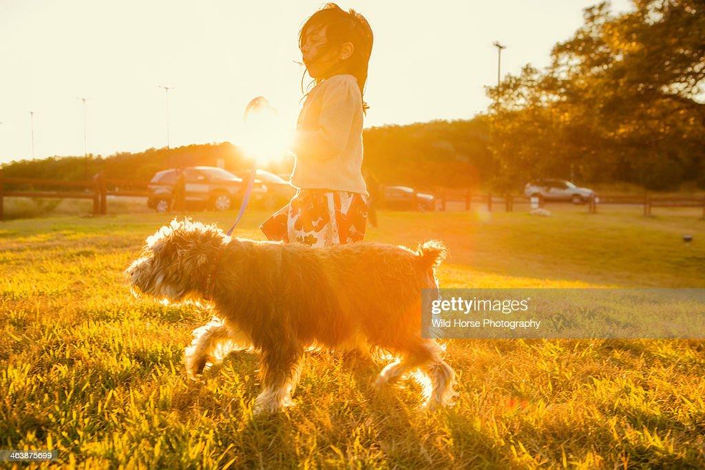 Dog and Girl : Stock Photo