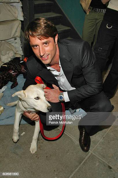Dog and Lorenzo Borghese attend PROJECT RUFFWAY Fashion Show to Benefit STRAY FROM THE HEART at 650 Sixth Avenue on May 21, 2007 in New York City.