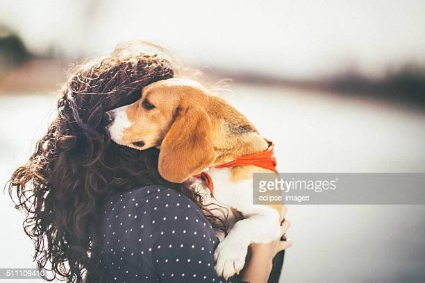 Cani e donna