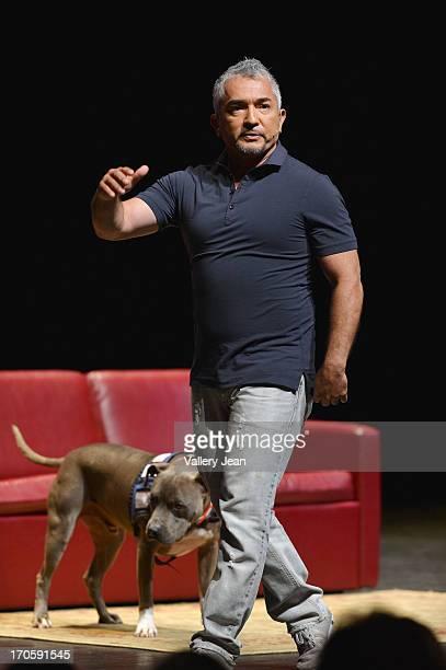 Dog Behavior Specialist Cesar Millan appears at Fillmore Miami Beach on June 14, 2013 in Miami Beach, Florida.