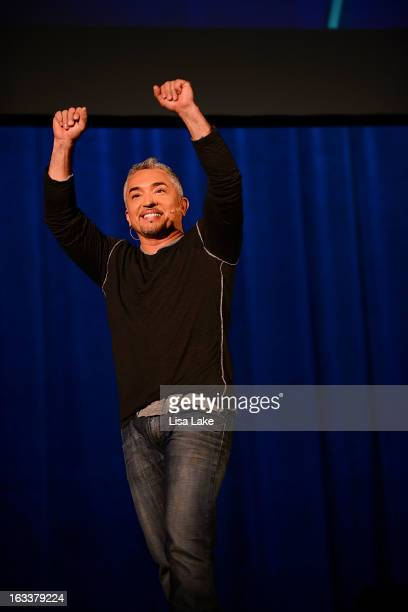 Dog Behavior Specialist Cesar Millan speaks at The State Theatre on March 8, 2013 in Easton, Pennsylvania.