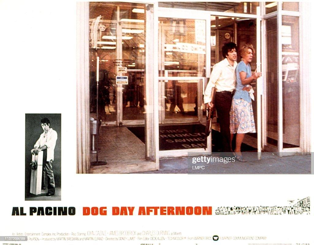Dog Day Afternoon, lobbycard, Al Pacino, Penny Allen, 1975