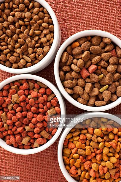 dog food varieties - pet equipment stock pictures, royalty-free photos & images