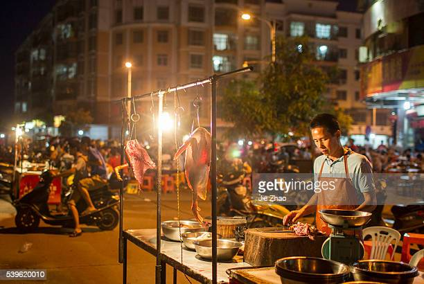 Dog meats are selling at the local restraurants in Yulin city, south China's Guangxi Zhuang Autonomous Region on 17th June 2014. About 10,000 dogs...