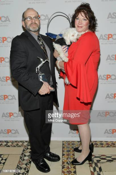 Dog of the Year Noah and Lisa Edge attend the ASPCA Hosts 2018 Humane Awards Luncheon at Cipriani 42nd Street on November 15 2018 in New York City