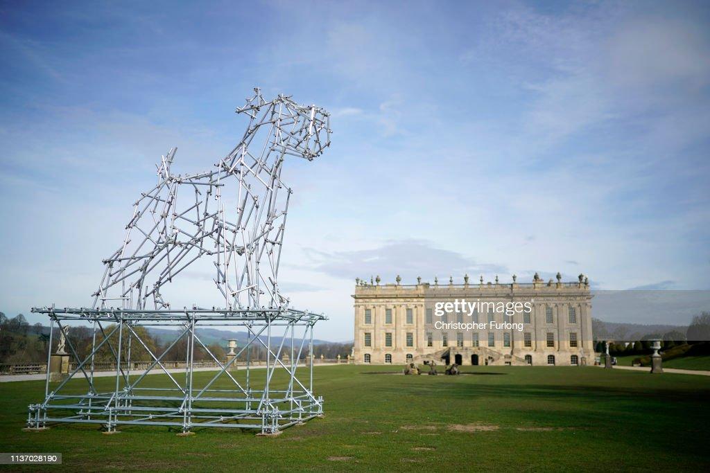 Dog Scaffolding Sculpture An Eight Metre High Sculpture Of A Dog News Photo Getty Images