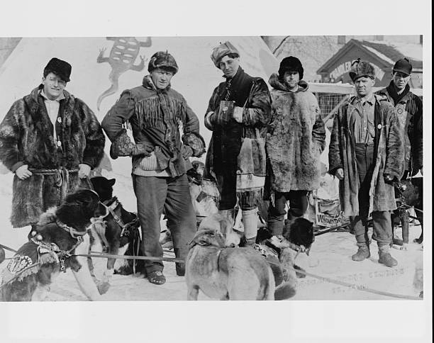 Dog Sleds and Men at St Paul Winter Carnival
