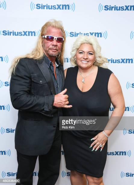 Dog the Bounty Hunter Duane Chapman and wife Beth Chapman visit at SiriusXM Studios on June 9 2014 in New York City