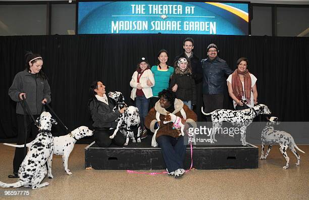 Dog trainers Ashley Young and Sandra Long along with cast members Catherine Missal Piper Curda Lydia Clemente Garrett Hawe Robert Anthony Jones Catia...