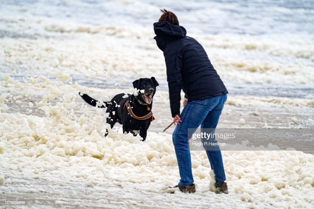 Storm Alex Continues To Lash Cornish Coast : News Photo