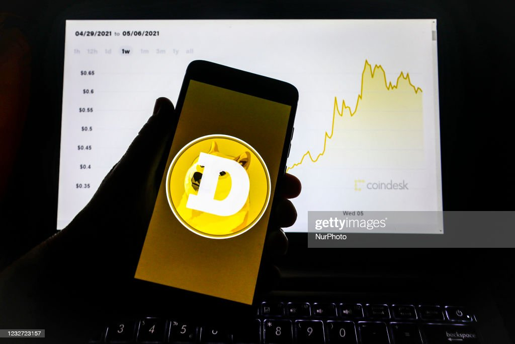 Dogecoin Cryptocurrency Continues To Surge : ニュース写真
