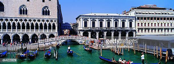 Doges' Palace and Bridge of Sighs, Venice, Italy,