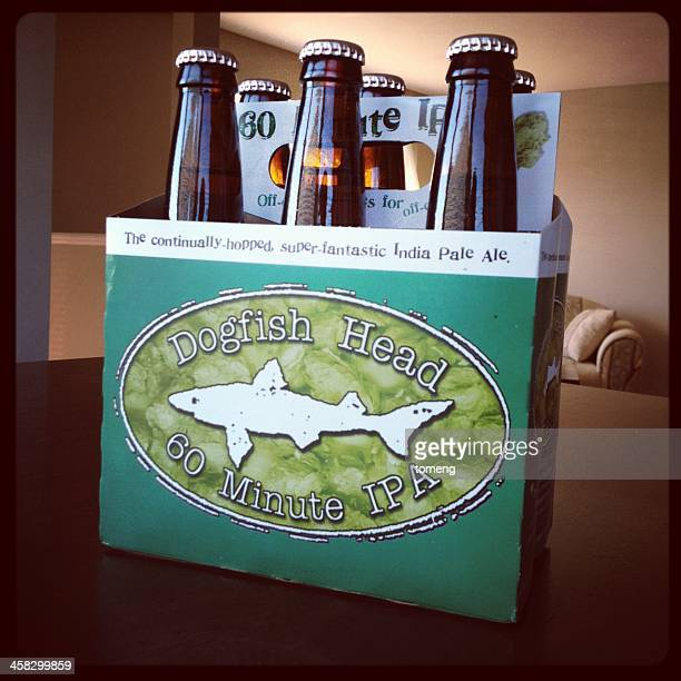 dogfish head 60 minute ipa beer - dogfish stock pictures, royalty-free photos & images