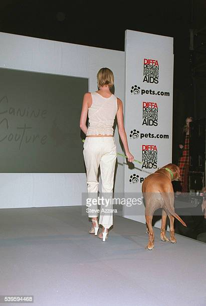 Doggy fashion show at the Kit Kat Club in aid of AIDS research.