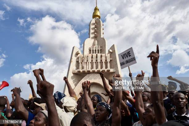 Dogon people take part in a protest in Bamako to claim for security and peace in central Mali on September 13 2019 Northern Mali fell into the hands...