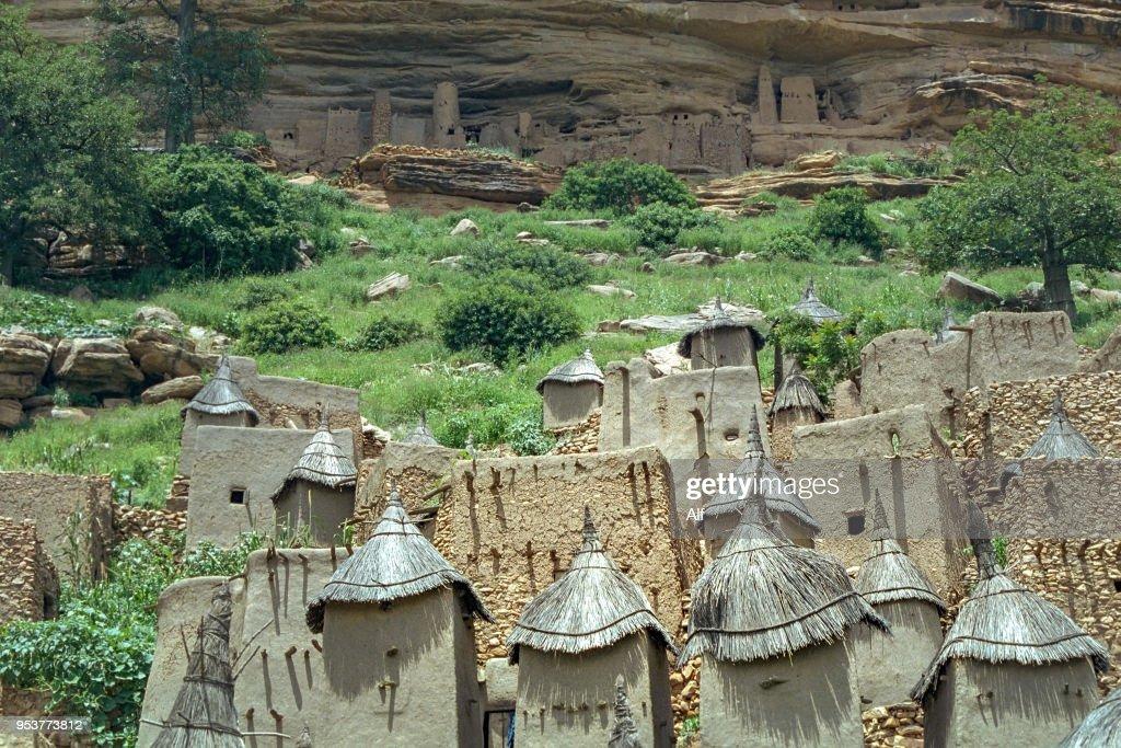 Dogon village in the Bandiagara Escarpment, Mopti region, Mali : Stock Photo