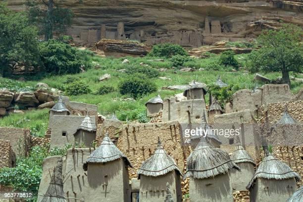 dogon village in the bandiagara escarpment, mopti region, mali - grand canyon village stock photos and pictures